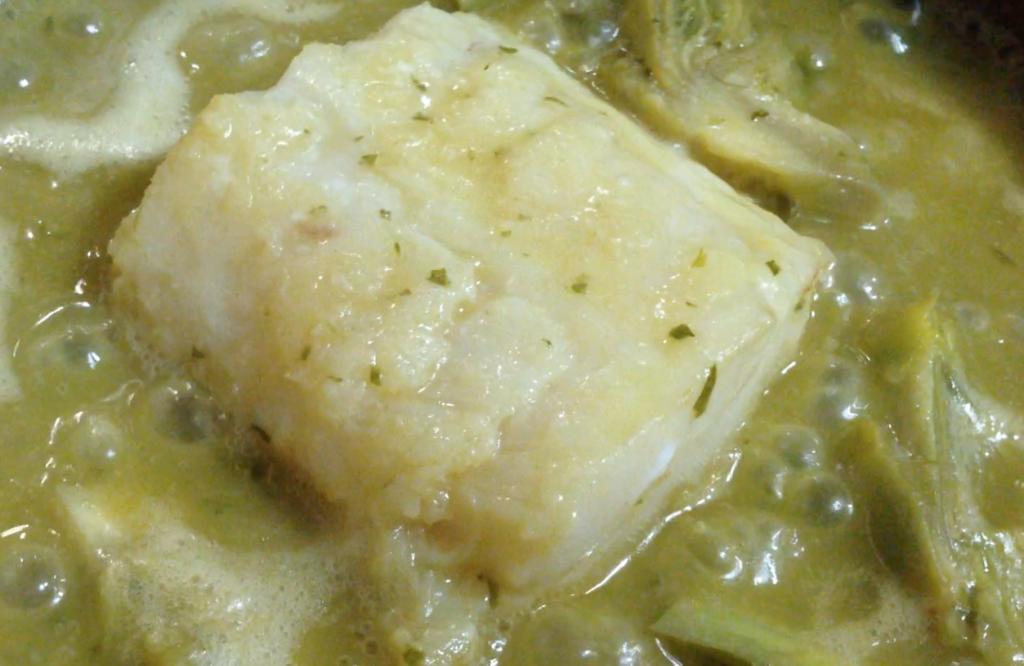 Receta de bacalao-bacalla amb carxofes