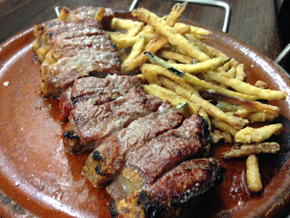Menu Som Gastronomia - Entrecot de Vedella de La Finca a la Pedra