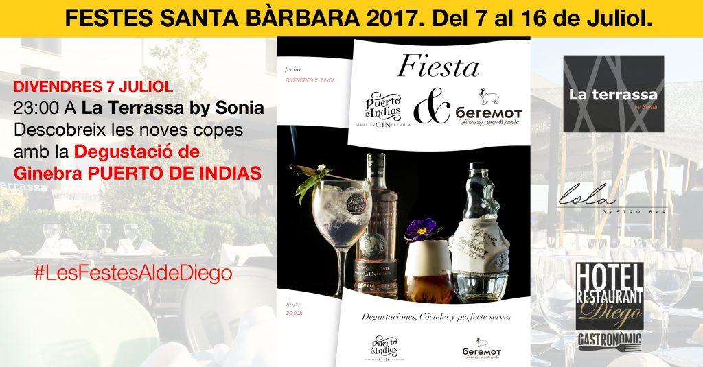 FESTES DE SANTA BÀRBARA - DEGUSTACIÓ GINEBRES PUERTO DE INDIAS