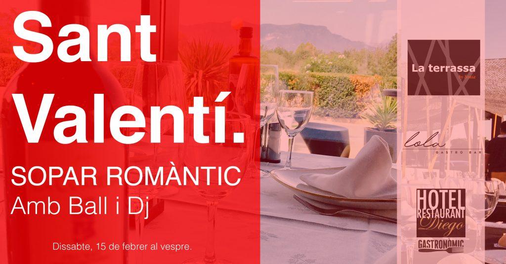 Sopar Sant Valenti Restaurant Terres de l'Ebre